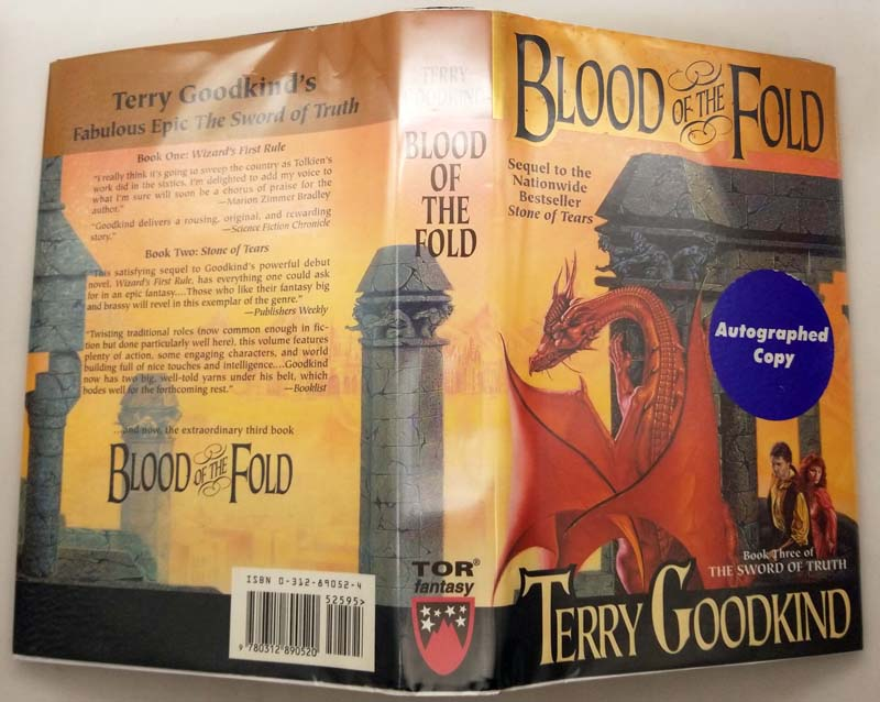 Blood of the Fold - Terry Goodkind 1996 | 1st Edition SIGNED