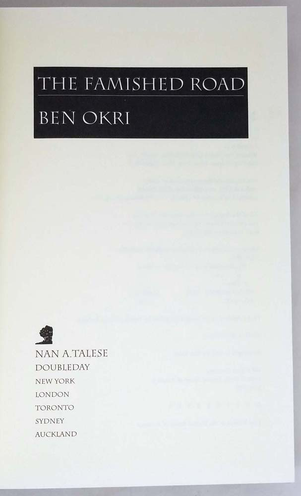 The Famished Road - Ben Okri 1992 | 1st Edition