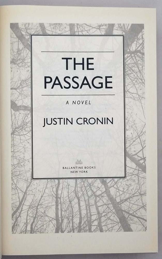 The Passage Trilogy - Justin Cronin | 1st Edition 3 vols Set