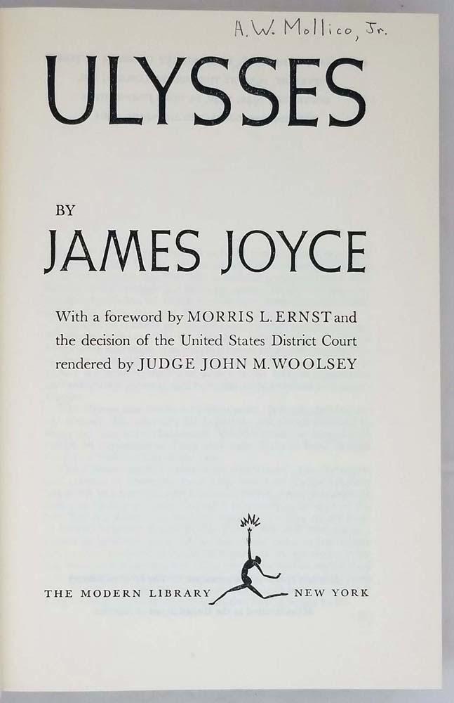 Ulysses - James Joyce 1961 | Modern Library Giant