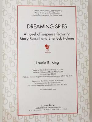 Dreaming Spies - Laurie R. King 2015 | 1st Edition ARC Proof Copy
