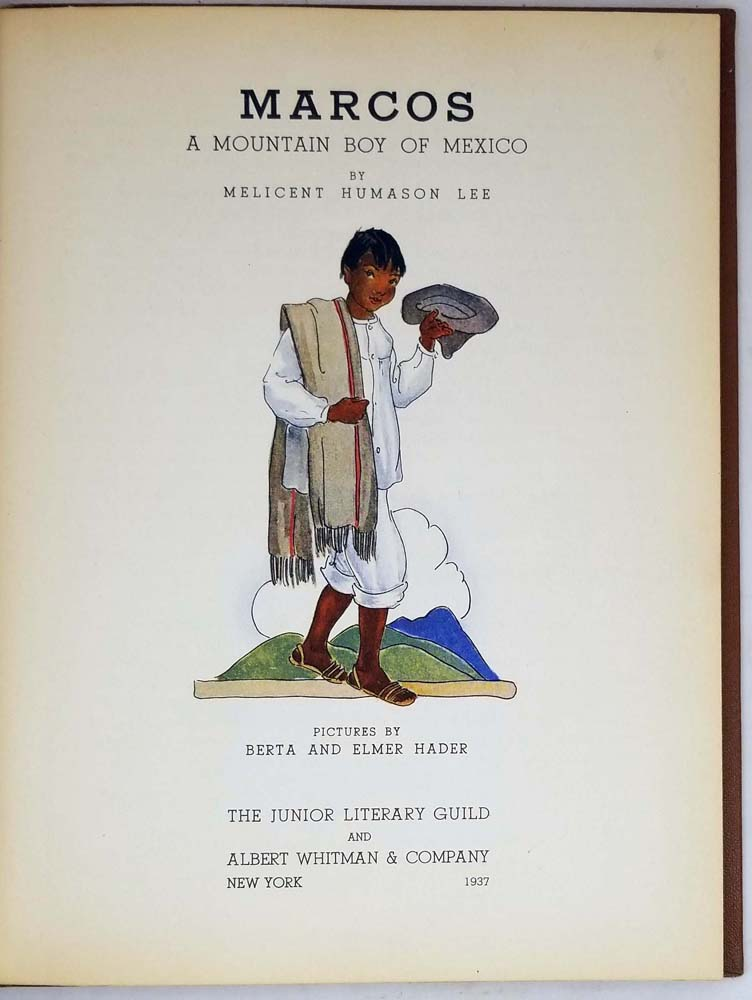 Marcos - Melicent Humanson Lee 1937   1st Edition