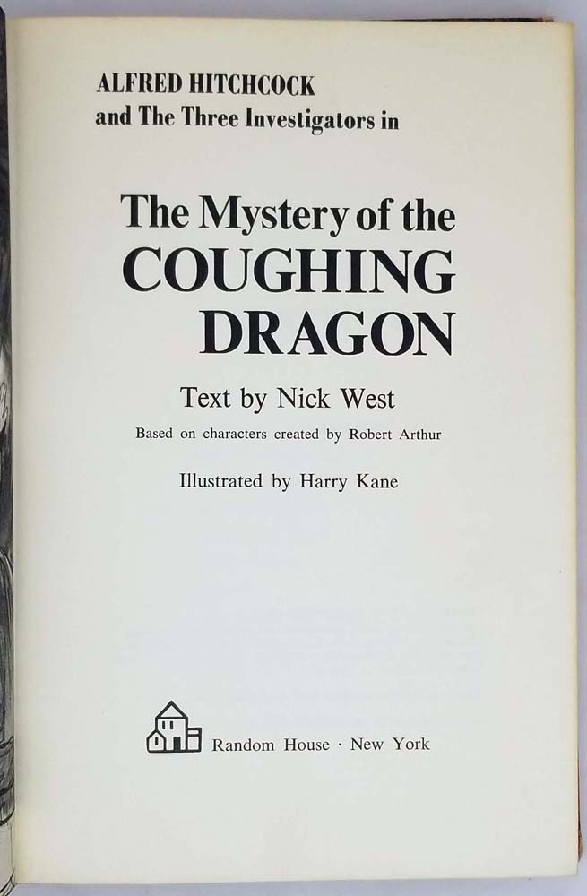 Alfred Hitchcock & The Three Investigators - The Mystery of the Coughing Dragon 1970 | 1st Edition