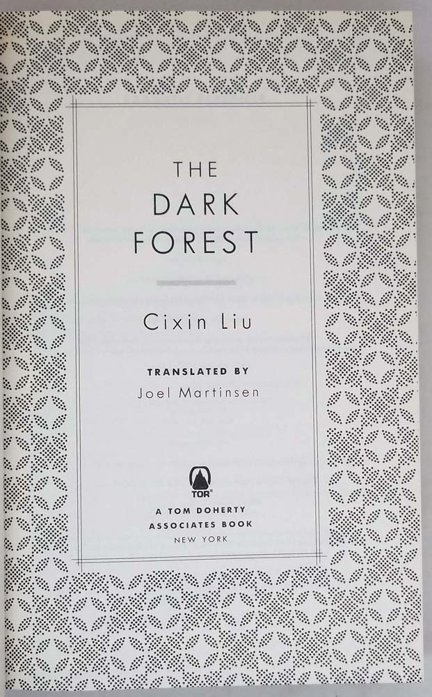 The Dark Forest - Cixin Liu 2015 | 1st Edition