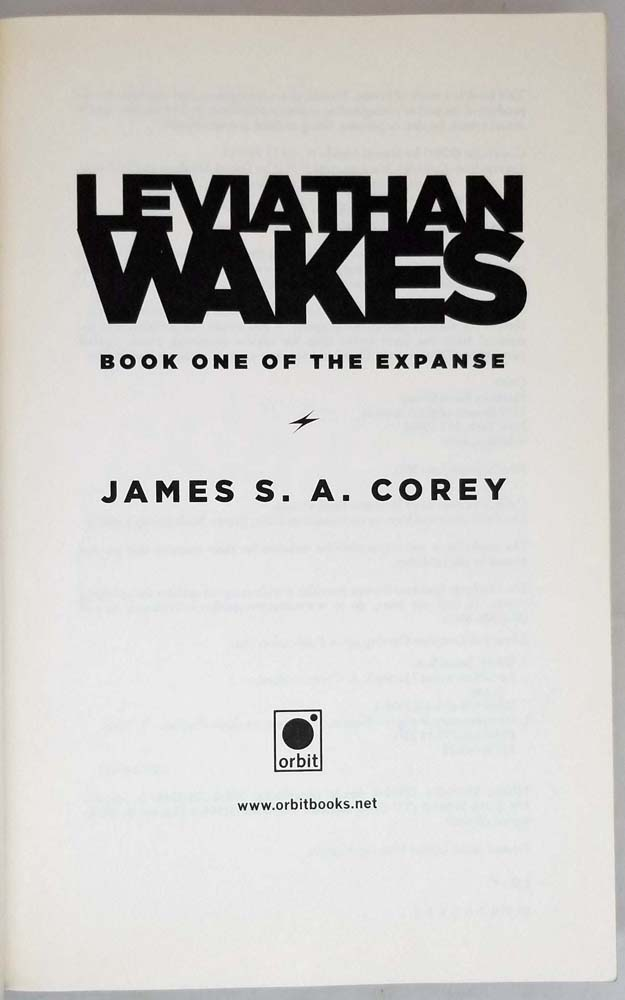 Leviathan Wakes - James S. A. Corey 2011 | 1st Edition SIGNED