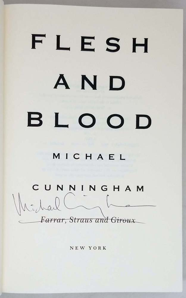 Flesh and Blood - Michael Cunningham 1995   1st Edition SIGNED