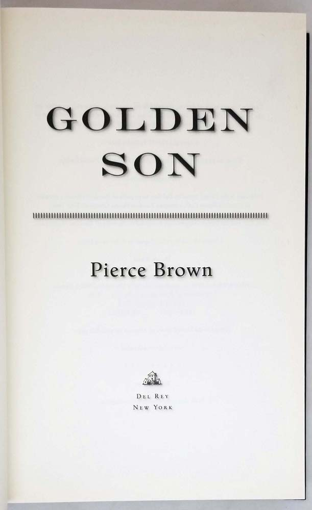 Golden Son (Red Rising Series 2) - Pierce Brown 2015 | 1st Edition