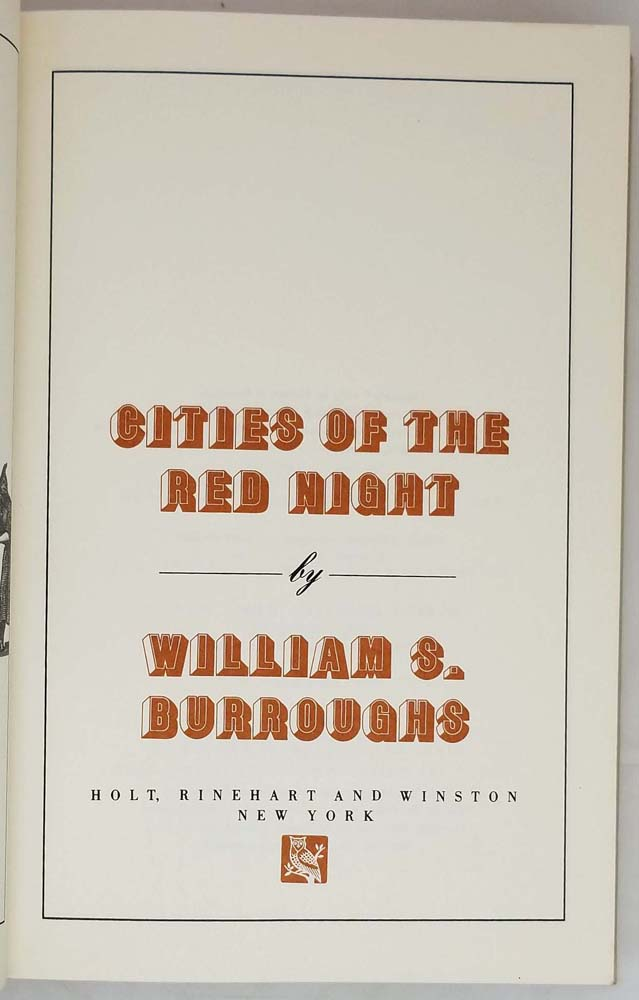 Cities of the Red Night - William S. Burroughs 1981 | 1st Edition