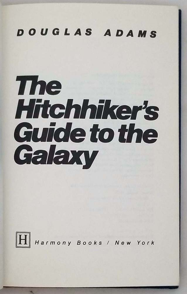 Hitchhiker's Guide to the Galaxy - Douglas Adams 1979 | 1st Edition