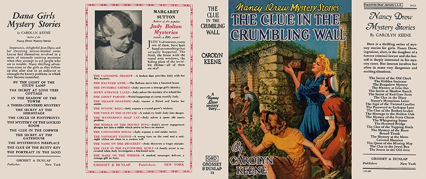 Nancy Drew 22 Clue In The Crumbling Wall 1945A-1