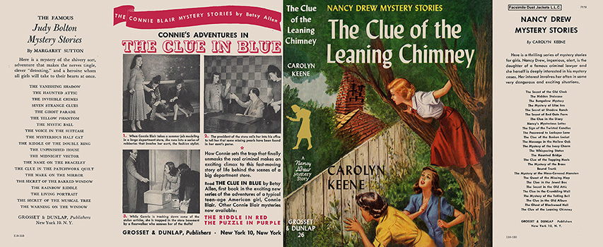Nancy Drew 26 Clue Of The Leaning Chimney 1949A-1