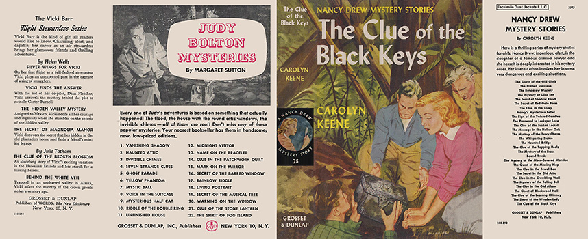 Nancy Drew 28 Clue Of The Black Keys 1951A-1