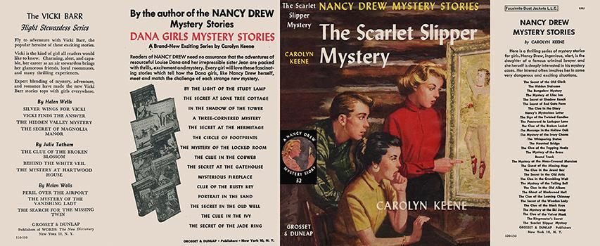 Nancy Drew 32 Scarlet Slipper Mystery 1954D-1