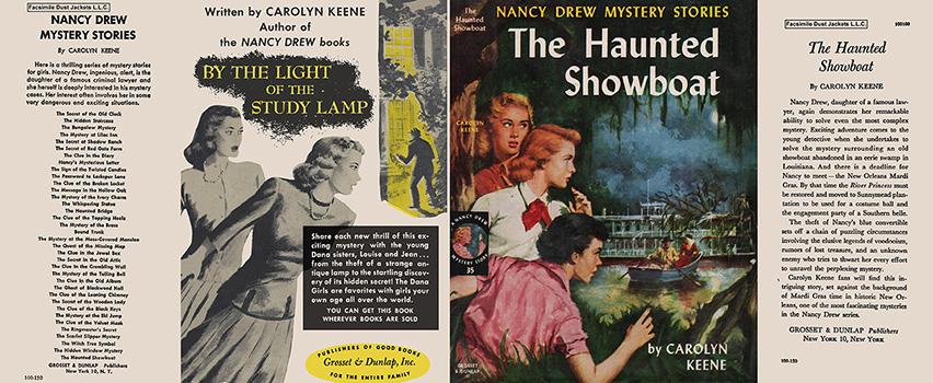 Nancy Drew 35 Haunted Showboat 1958A-1