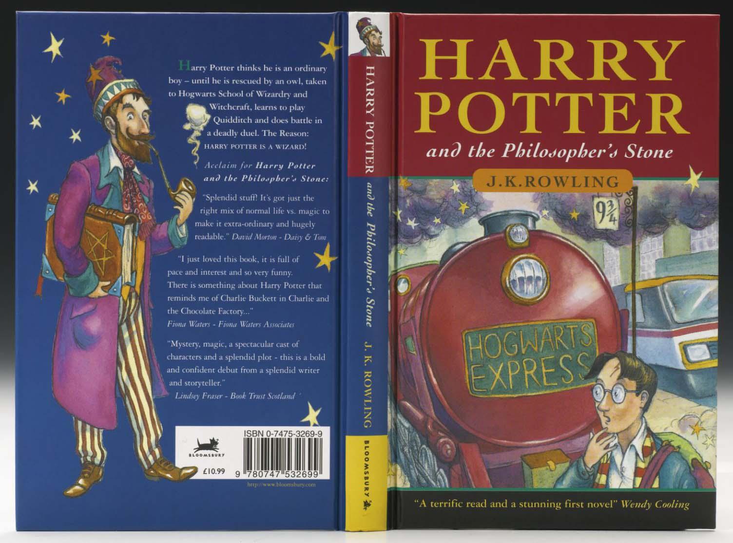 J. K. Rowling - Philosophers Stone 1997  -True First UK Edition