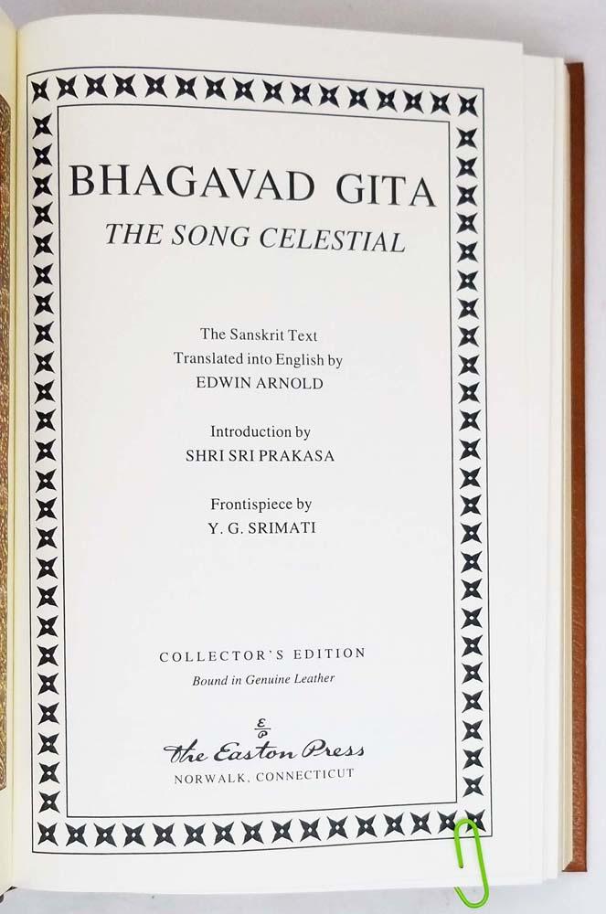 Bhagavad Gita - Edwin Arnold | Easton Press 1995