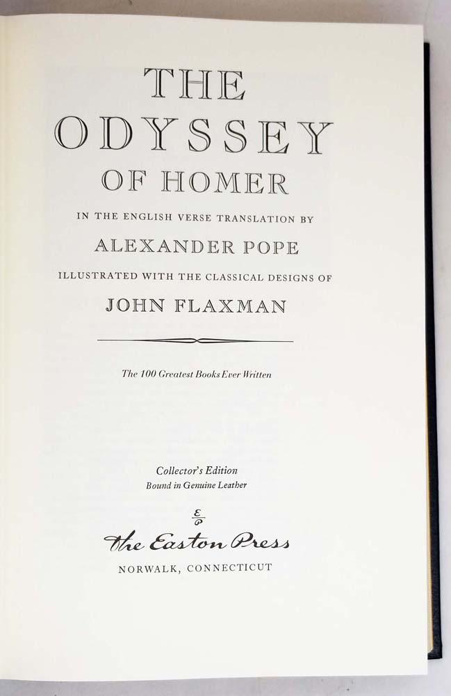 Odyssey of Homer - Alexander Pope | Easton Press 1978